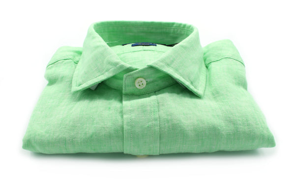 Slim shirt 710 795426 acid green Polo Ralph Lauren - mario gualano