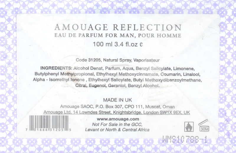 Profumo REFLECTION Man 31205 Amouage - mario gualano