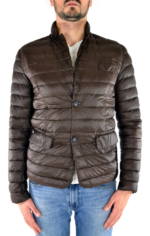 Padded jacket W15015 RRD brown - mario gualano