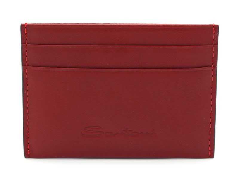 Card Holder PORTA CARTE SMALL rosso Santoni - mario gualano