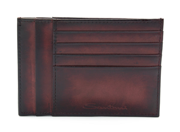 Card Holder PRTCRTGRND155 bordeaux Santoni - mario gualano