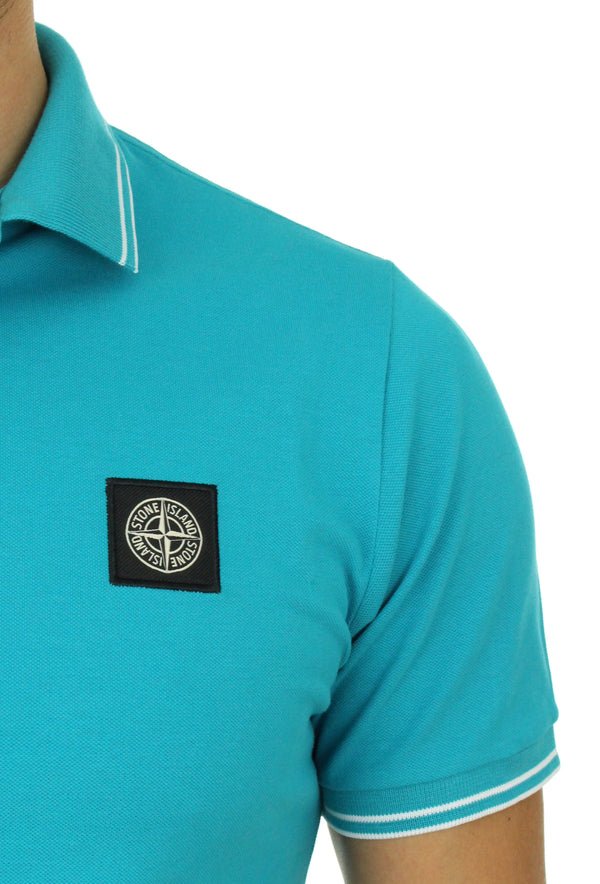 Polo shirt 101522S18 heavenly Turkish Stone Island