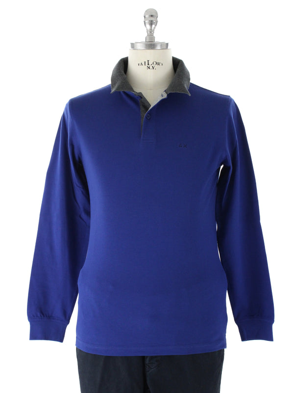 Polo con toppe 26105 Royal