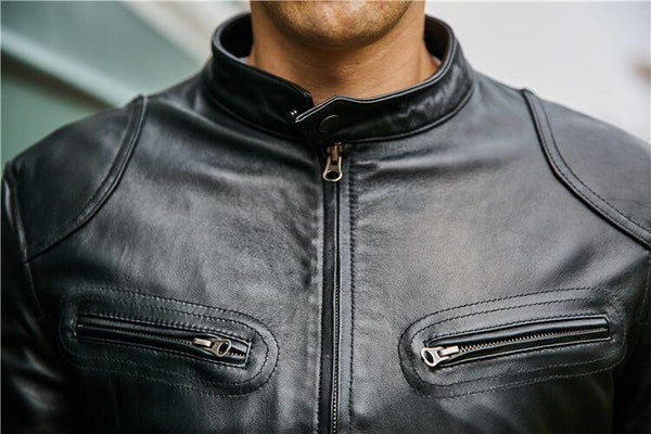 5b4648e40ad2 ... YOLANFAIRY Genuine Leather Jacket Man 2018 Real Cow Leather Coat men s