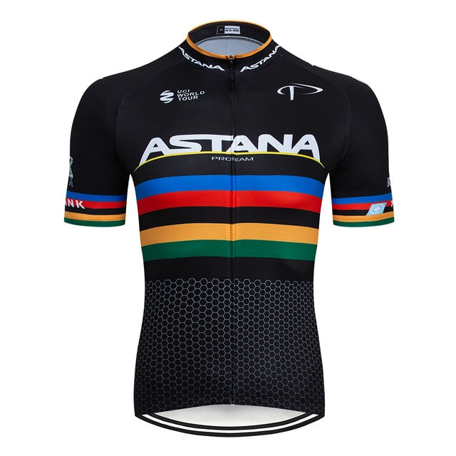 Astana Black Rainbow Men's Jersey