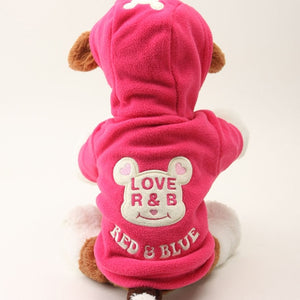 Love R&B Fleece Coat - PawClothes