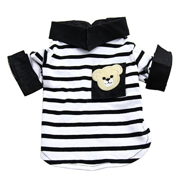 Teddy Bear Stirped T-shirt - PawClothes