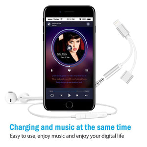 Flexible Music & Charging Splitted Adapter