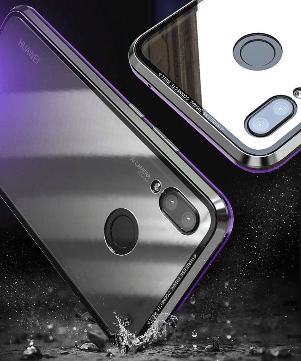 Magnetic Glass Cover Phone Case