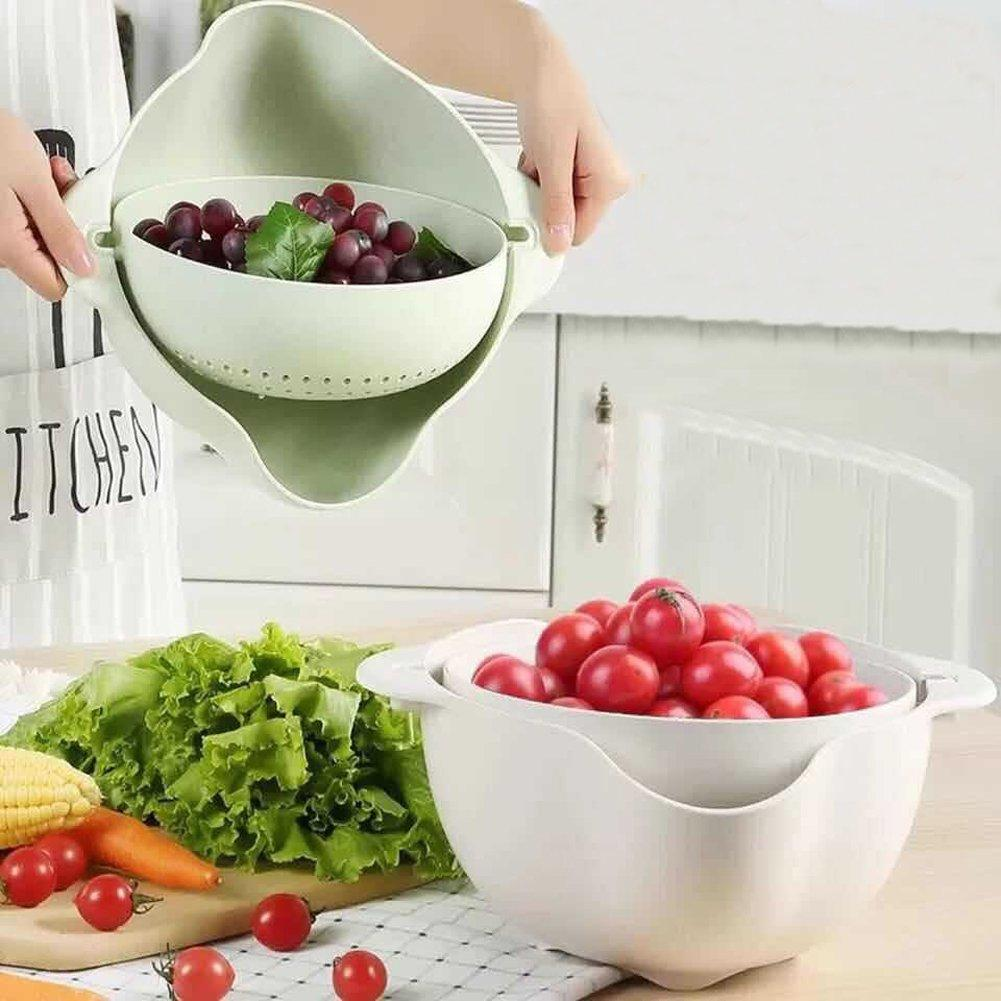 Double Drain Basket Bowl