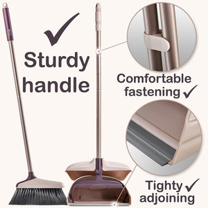 Self Cleaning Rotatable Broom and Dustpan Set
