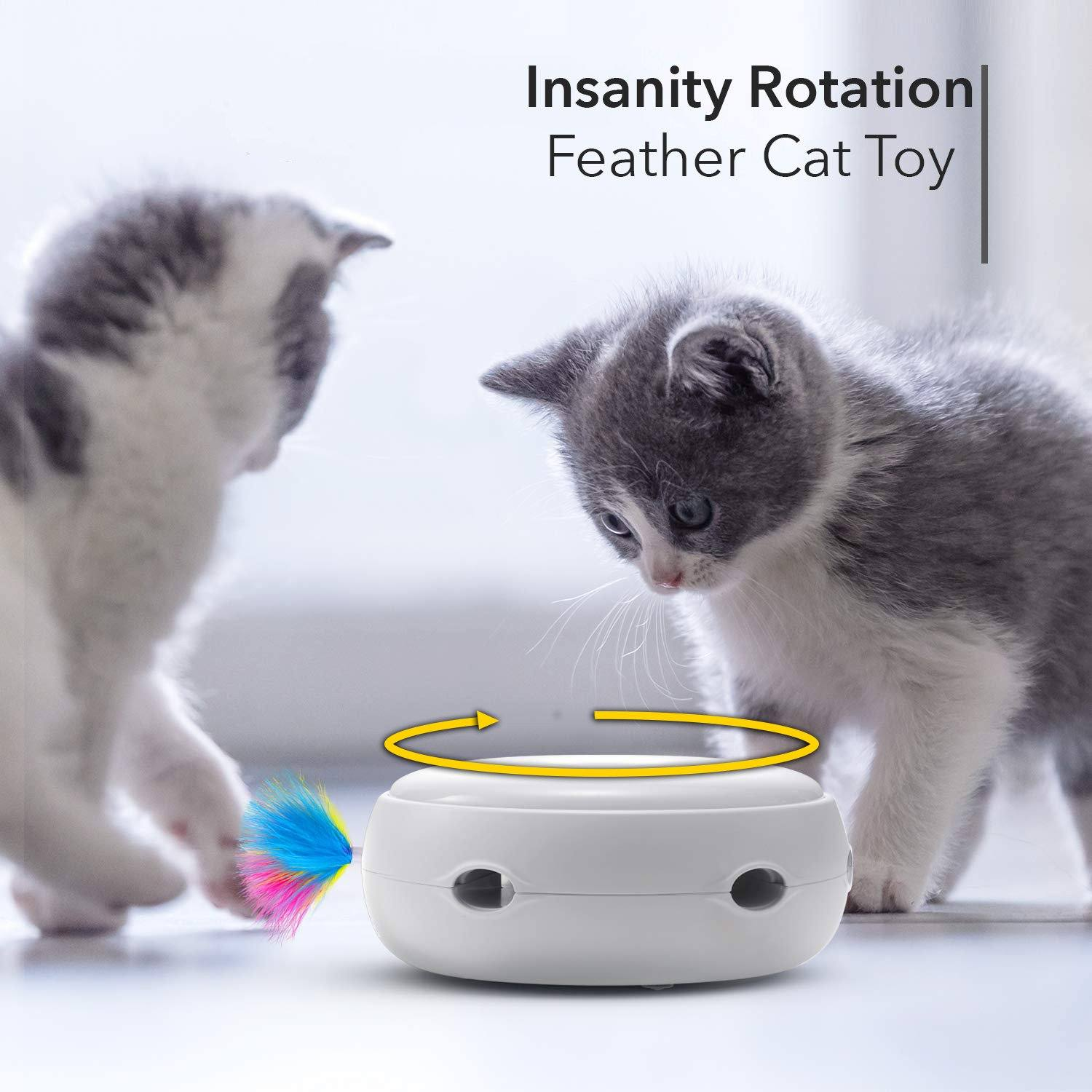 Insanity Rotation Feather Cat Toy