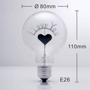 I LOVE YOU Light Bulb