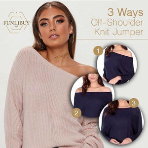 3 Ways Off-Shoulder Knit Jumper