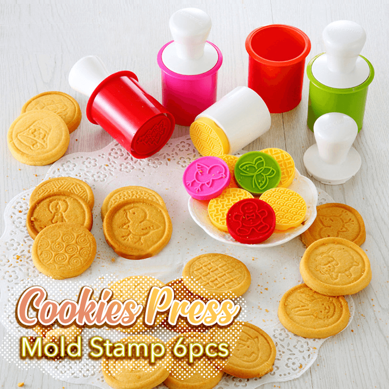 Cookie Press Mold Stamps (6 PCS)