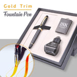 Gold Trim Fountain Pen Luxury Set