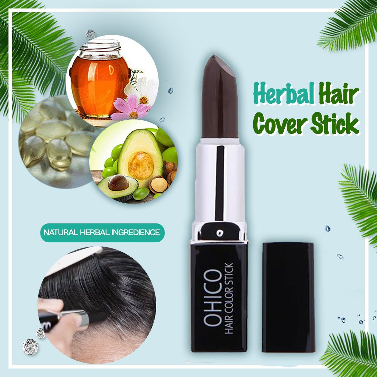Herbal Hair Cover Stick