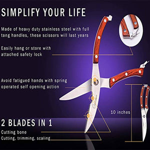 Stainless Strong Bone Kitchen Scissors