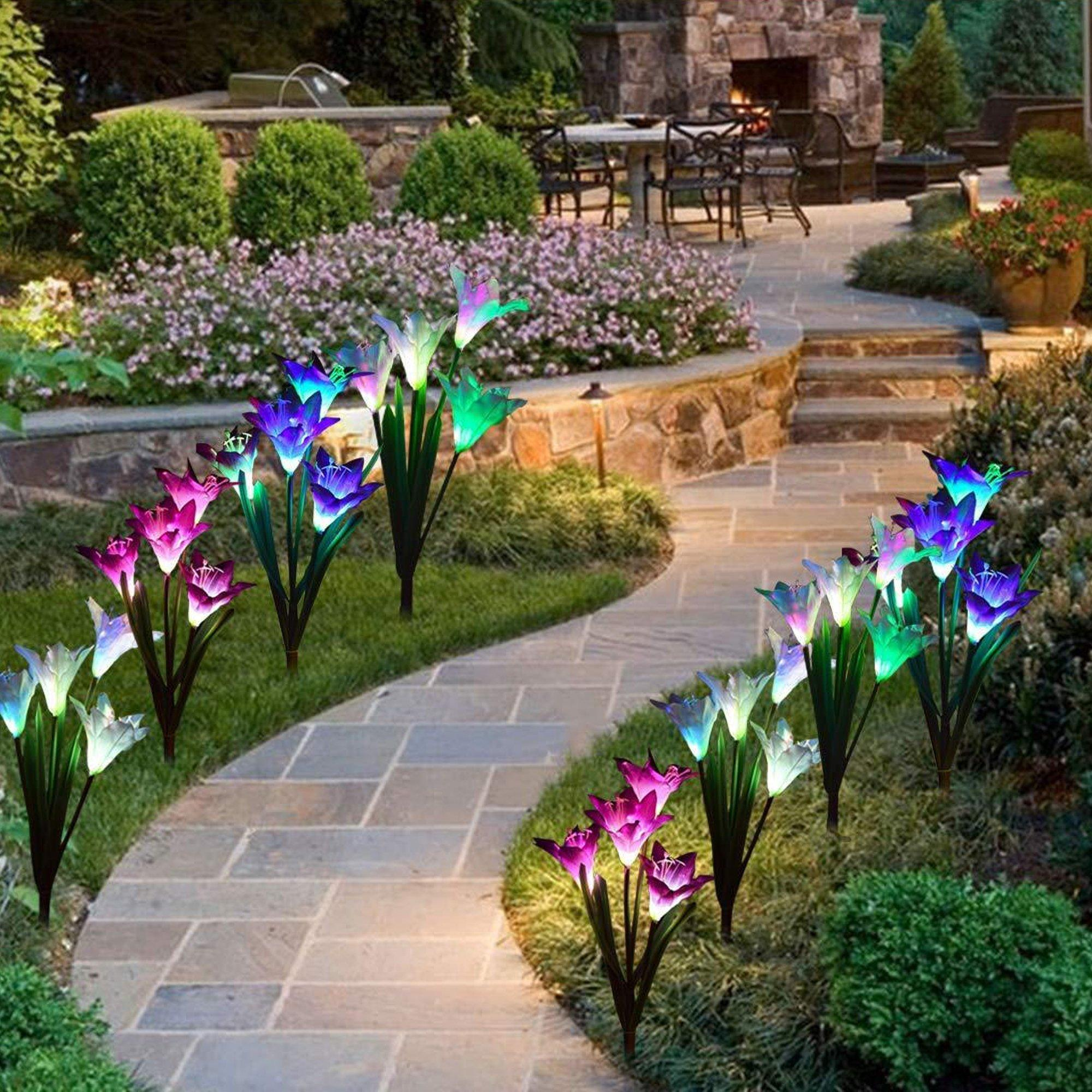 Solar Lily Flower Light (Set for 2)
