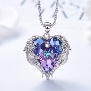 Angelwings Crystal Necklace