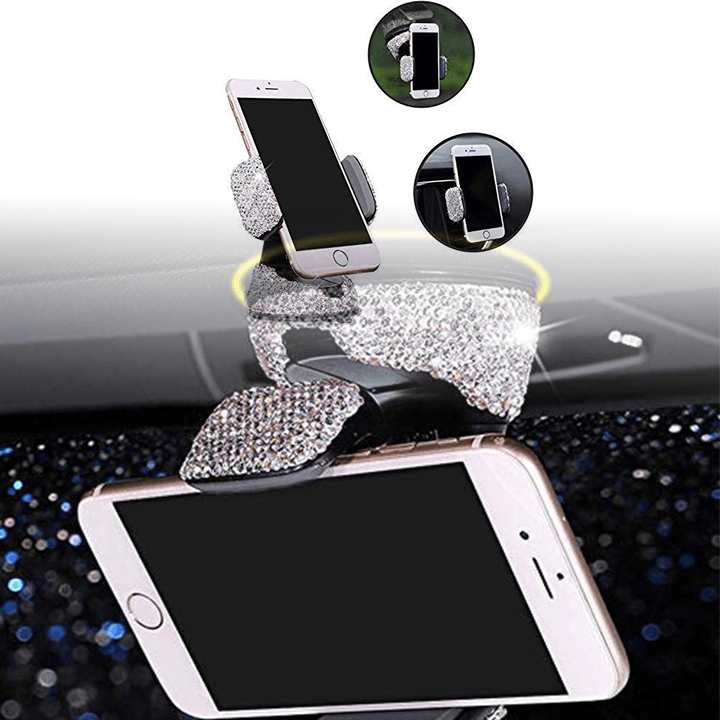 Adjustable Car Phone Mount Crystal Rhinestone