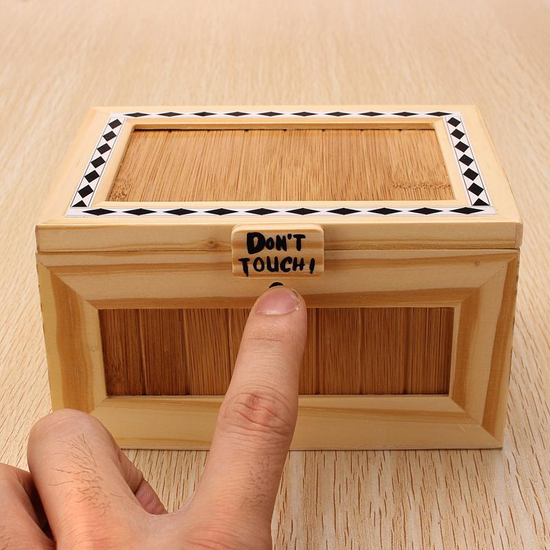 """Don't Touch"" Wooden Useless Box"