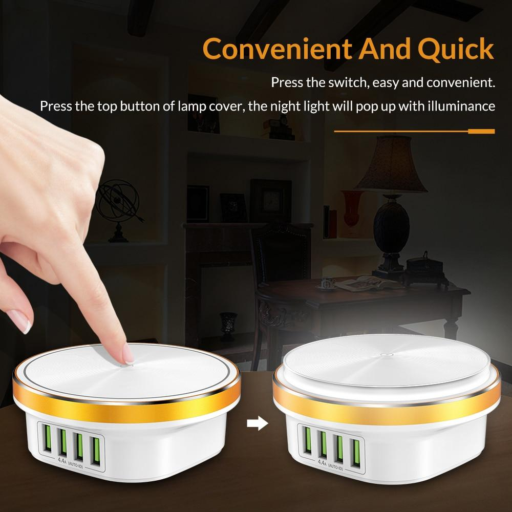 4 Port USB Charger Dimmable Smart LED Desk Lamp