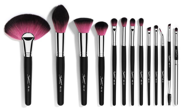 Vortex® Synthetic Professional Makeup Brushes with Zipper Belt
