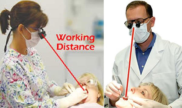 Loupe Working Distance Measurement Example - Hygienist & Dentist