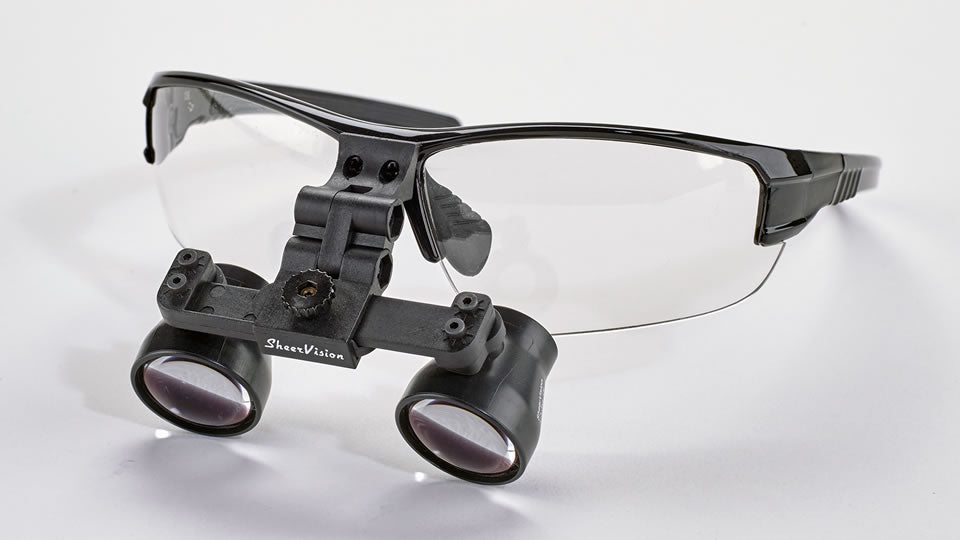 Flip-Up Expanded-Field Loupes: SV-Pro Frame