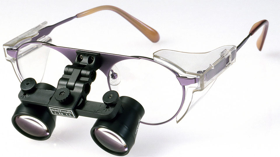 Flip-Up Expanded-Field Loupes: Titanium Frame
