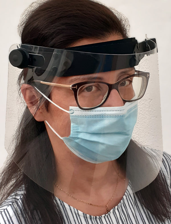 SheerVision Acdemy Full-Face Protective Shield for Educators Teachers & Students - PPE View