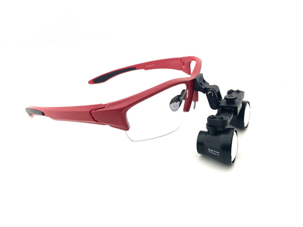 Special Liquidation Offer: OEM Expanded Field SuperLight Flip-Up Loupes on Sports Frame