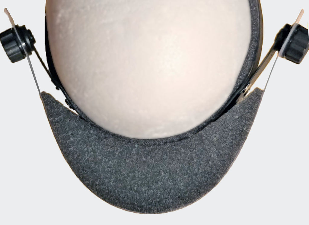 Top Down View of Replacement Foam Top Cover for SV-Shield Loupe-Friendly Face Shield System