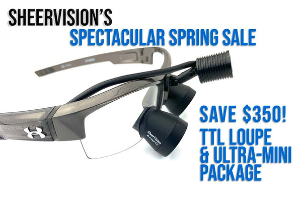 Fantastic offer on a Custom TTL Loupe & Lightweight Headlight Package for Our Surgical Residents, Dental Students & Practicing Dentists & Hygienists