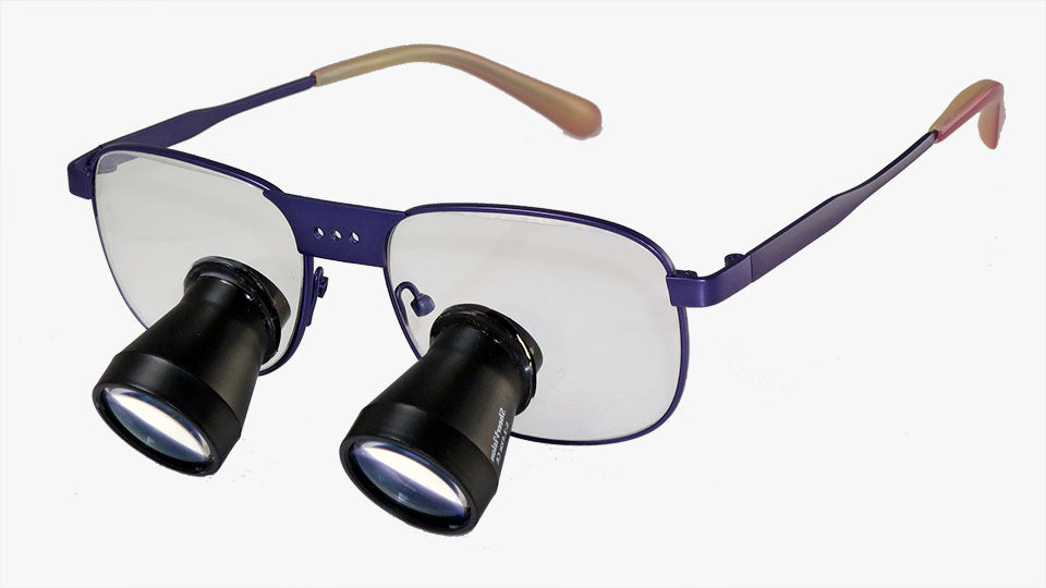 TTL Expanded-Field Loupes: Titanium Frame