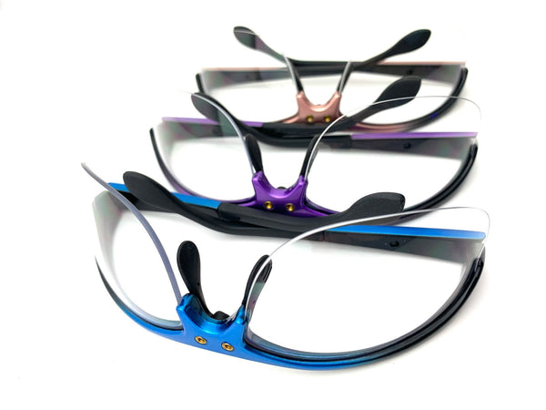 3.5x Classic Barrel SheerVision Brand Flip-Up Loupes - Del Rey Frame