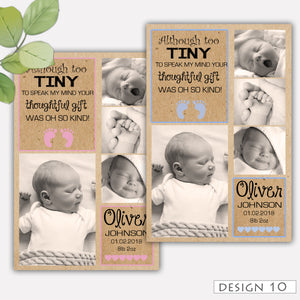 Kraft Photo Baby Thank You Cards