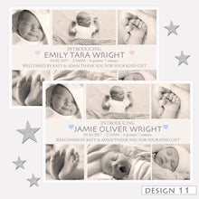Load image into Gallery viewer, Photo Birth Announcement Thank You Cards