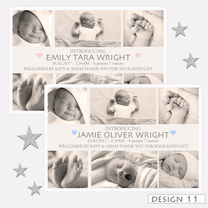 Photo Birth Announcement Thank You Cards