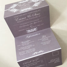 Load image into Gallery viewer, Classic Grey Concertina Wedding Invites - CLCDesigns