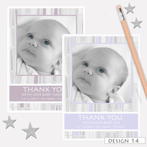 Photo Boy Or Girl Birth Announcement Thank You Cards
