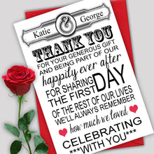 Load image into Gallery viewer, Multi Font Wedding Thank You Cards - CLCDesigns