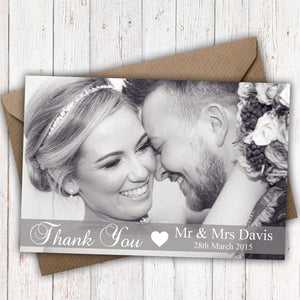 Full Photo Personalised Wedding Thank You Cards - CLCDesigns