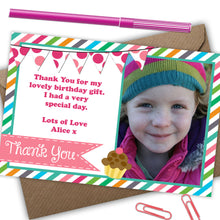 Load image into Gallery viewer, 'Sweetie' Girls Thank You Cards - CLCDesigns