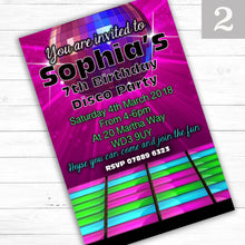 Load image into Gallery viewer, DISCO Children's Birthday Party Invite - CLCDesigns