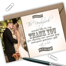 Load image into Gallery viewer, Photo Wedding Thank You Cards - CLCDesigns