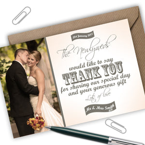 Photo Wedding Thank You Cards - CLCDesigns