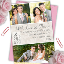 Load image into Gallery viewer, Love & Thanks Photo Wedding Thank You Cards - CLCDesigns