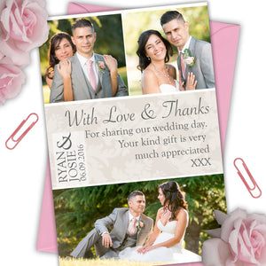 Love & Thanks Photo Wedding Thank You Cards - CLCDesigns